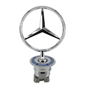 Mercedes Benz Front Hood Ornament Mounted Star Logo Badge Emblem