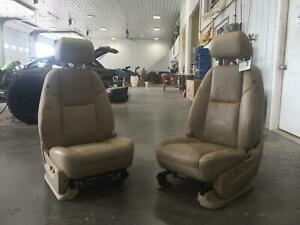 2010 2011 Gmc Yukon Xl 1500 Escalade Esv Ext Front Seat Set Tan Leather Heated