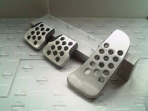 Jdm Oem Pedal Pad Aluminum Silvia S15 240sx Cover Mt Manual 3pcs Japan