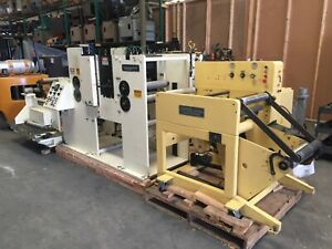 Custom Label Rewinder Die Cutter 19 Inches Wide