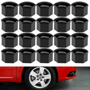 20pcs 17mm Black Wheel Lug Nuts Bolt Covers Caps Tool For Audi A4 A6 Universal