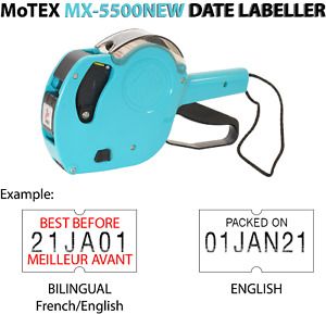 Motex Mx 5500new Date Labeller Gun