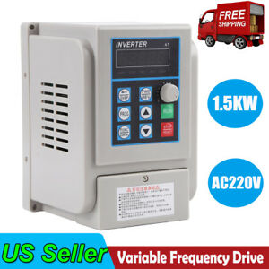 2hp 1 5kw 1 To 3 Phase Variable Frequency Drive Converter Vfd Speed Controller
