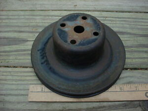 Mopar 60s 70s Maybe Water Pump Fan Pulley One Groove Plymouth 6 1 2 X 2 5 8