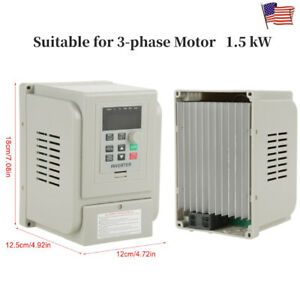 220v 1 5kw Variable Frequency Drive Vfd Speed Controller For 3 phase Motor Us
