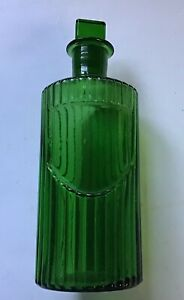 Antique Green Glass Chemist Apothecary Pharmacy Bottle