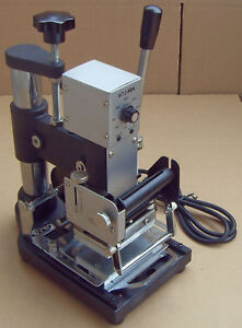 Wtj 90a Manual Hot Foil Stamping Machine Pvc Plastic Card Tipper Stamper New