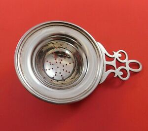 John Hasselbring Sterling Silver Tea Strainer With Pierced Handle 376