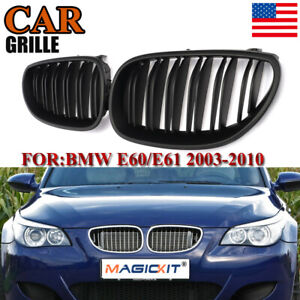 Matte Black M5 Style Front Kidney Grille For Bmw Grill E60 E61 525i 530i 2004 09