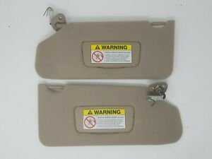 1999 2002 Honda Accord Sunvisor Visor Shade Pair Tan Lighted Oem