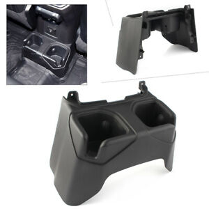 Car Rear Console Water Cup Holder For Jeep Wrangler Jl 2018 2019 Black