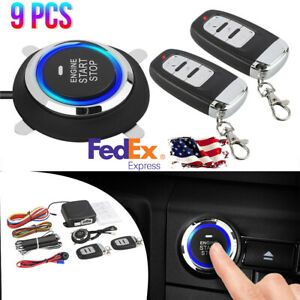 Car Alarm Start Security System Keyless Entry Remote Central Kit Door Lock