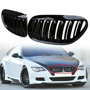 Kidney Grill For Bmw E63 E64 M6 Type Dual Slat Front Grille 05 10 645 650 1lufy5