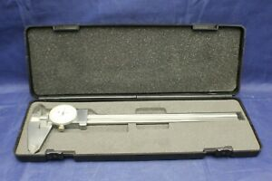 Brown Sharpe 00589045 Dial Caliper Stainless Steel White F2b9