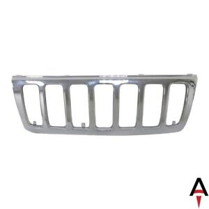 For 1999 2003 Jeep Grand Cherokee Chrome Grille Assembly Grill Shell And Insert