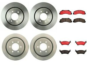 Brembo Front Rear Full Brake Kit Disc Rotors Ceramic Pads For Ford F 150 12 16