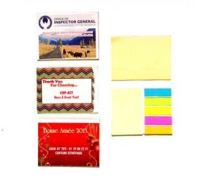 Lot Of 100 Pieces Misprint Sticky Note Pads With Colored Sticky Flags