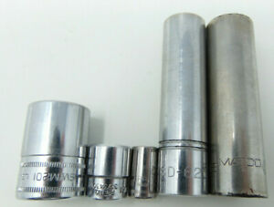 Lot Of 5 Assorted Sockets 2 Snapon A Matco A Williams A Craftsman