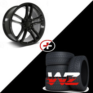 22 5628 Style Gloss Black Wheels W Tires Fits Porsche Cayenne