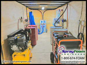 Spray Foam Equipment Graco A25 Spray Insulation Machine Trailer
