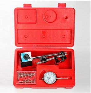 Dial Indicator Magnetic Base Precision Inspection Set Gauge Lever Case Clamps