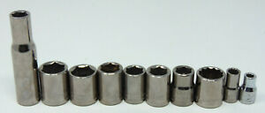 Craftsman Lot Of 10 Sockets sae Metric Great Condition W Free Shipping