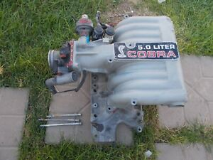 92 Ford Mustang G T Cobra Upper Lower Intake Manifold Gt 40 W Throttle Body