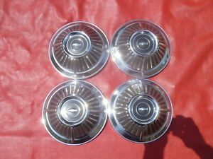 Vintage 1966 L79 Chevy Ii Nova Chevelle Dog Dish Poverty Hubcaps Wheel Covers
