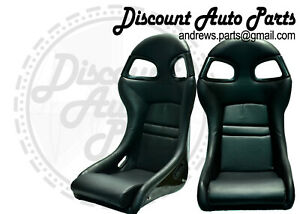 Porsche 996 Style Gt3 Seats In Black Leather W Black Frp Backing 911 996 Gt2 Rs