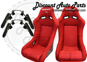 Bride Vios 3 Iii Red Gradation Seats Low Max Short Mounts And Sliders Jdm Pair