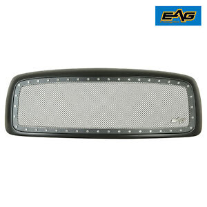 Eag Chrome Rivet Mesh Replacement Grille Fits 02 05 Dodge Ram 1500 2500 3500