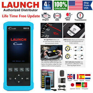 Launch X431 Cr8001s Automotive Diagnostic Scan Tool Obd2 Scanner Obd Code Reader