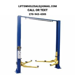 New 9 000 Lbs 2 post Auto Lift Clearfloor Model Asymmetric Or Symmetric Arms