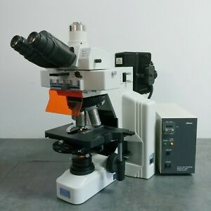 Nikon Microscope E600 With Dic And Fluorescence