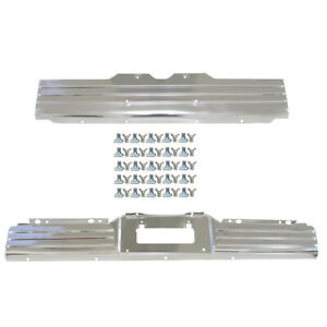 1964 Impala License Plate Panel Front Amp Rear Pair 2 Pcs With 50 Clips Dynacorn New