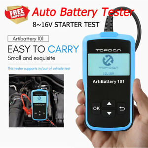 Universal 12v Battery Tester Digital Charging Cranking Analyzer Diagnostic Tool