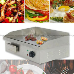 110v Commercial Stainless Steel Electric Griddle Grill Home Bbq Plate 50c 300c