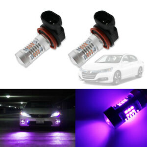 Pink Purple H11 H8 Led Fog Driving Lights Drl Bulbs For 2006 2015 Honda Accord