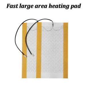 2pcs Carbon Fiber Heated Cushion Seat Heater Pad For 1 Seat Universal Dc 12v