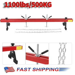 Engine Load Leveler 1100lbs 500kg Capacity Support Bar W Dual Hook