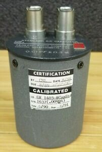 General Radio 1500v 1403 r Standard Air Capacitor 0 01 Pf 0 3 k 356