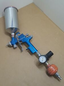 Rare Sata Lm2000 Rp Spray Gun 2 0 Spray Tip Reduced Pressure Spraygun W Hopper