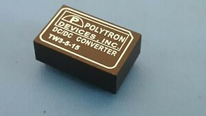 Dc dc Converter Isolated 5vdc 3 Watt To Dual Output 15vdc 100ma 12pin Tw3 5 15