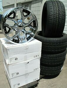 22 New Chevy Silverado Suburban Chrome Deep Dish Wheels 285 45 22 Tire 5668 B