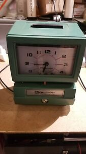 Acroprint Time Recorder Punch Clock With Key For Parts Or Repair