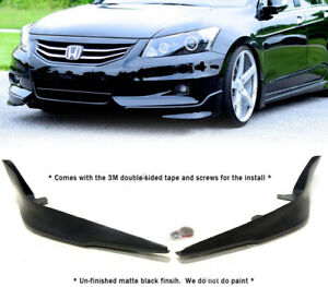 Global 8 Polyurethane Front Bumper Lip For 2011 2012 Honda Accord 4dr Oe Style