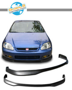 Global 8 Urethane Front Bumper Lip For 1999 2000 Civic 2 3 4d Type Rbm Finish