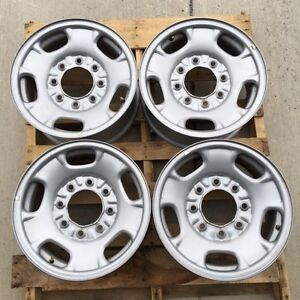 8 Lug 17 Chevy Gmc Truck Steel Wheel Rims No Centers