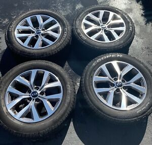 2014 2016 Kia Sportage 17 Aluminum Wheel Rims Tires Set Of 4 Oem
