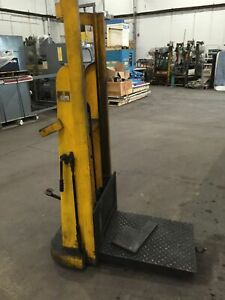 Big Joe Model 21p54 1000 Lbs 24 w X 30 l Table Hydraulic Lift Cart W 53 Lift